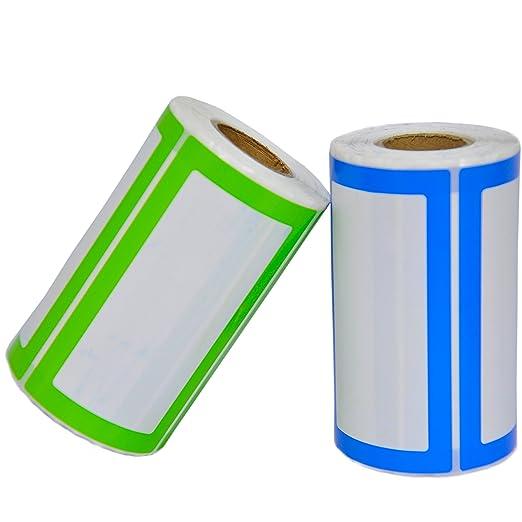 Popolare Etichette Adesive Colorate Personalizzate - 2 Rotoli da 500  EZ65