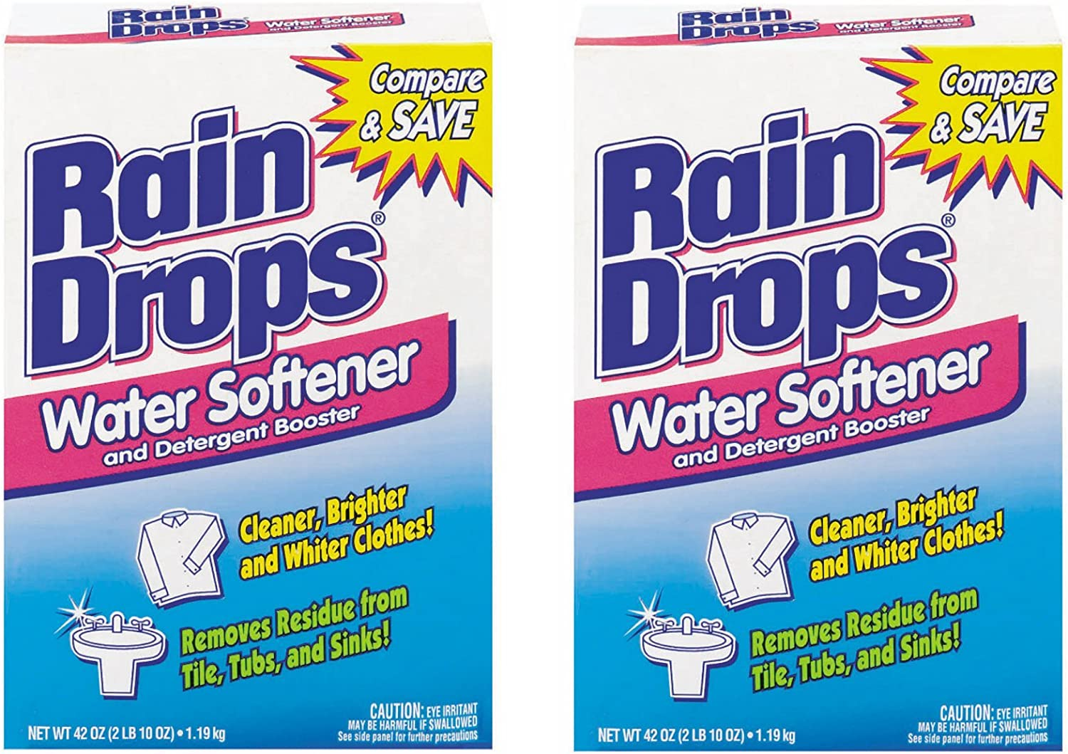 Rain Drops Water Softener, 42 Ounce (Pack of 2)