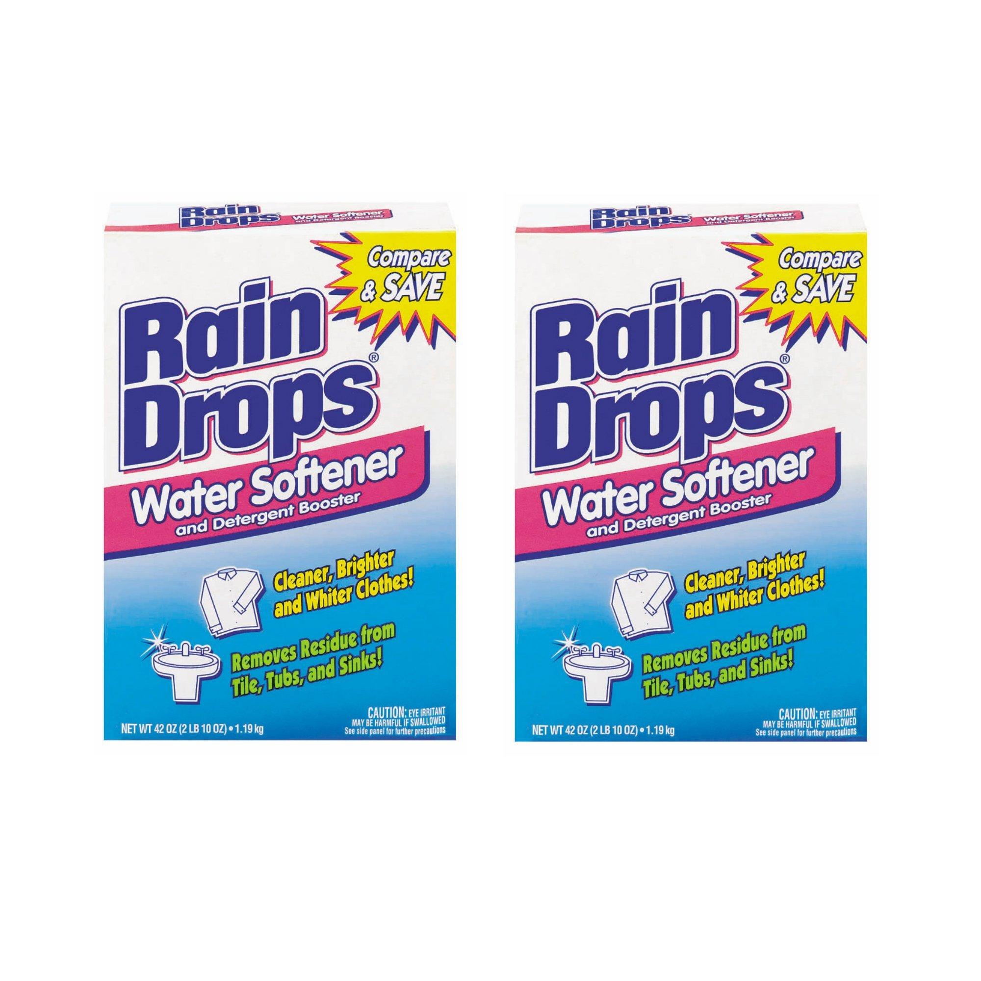 Rain Drops Water Softener, 42 Ounce (Pack of 2)