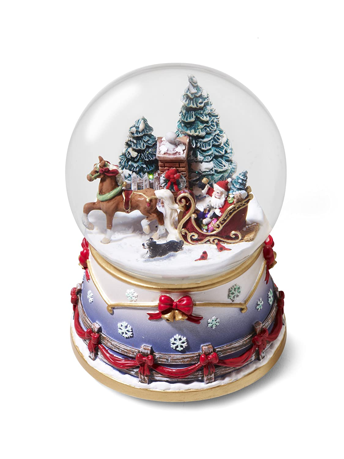 amazoncom holiday homecoming musical snow globe 10th in series toys games - Christmas Musical Snow Globes