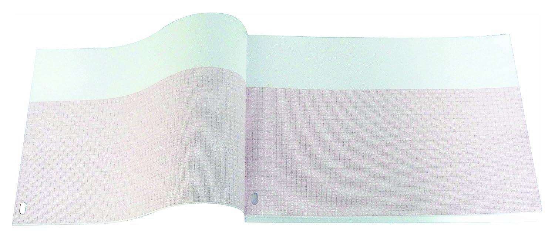 Paquete plegado de papel térmico para ECG compatible con HP/Philips M1709A