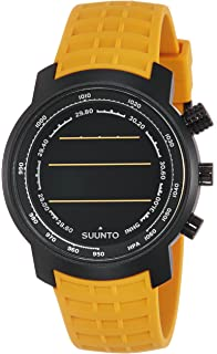 Suunto Elementum Terra Amber Rubber Strap Digital Watch with Altimeter, Barometer, Compass