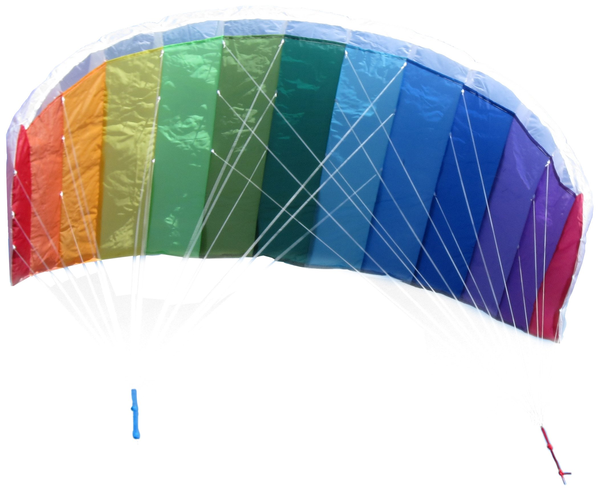 In the Breeze Rainbow 62 Inch Sport Kite - Dual Line Stunt Parafoil - Includes Braided Kite Line Bag - Easy to Fly