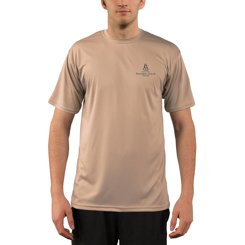 4cdb83e3d Altered Latitudes Coastal Classics Hawaiian Islands Chart Men's UPF 50+ Short  Sleeve T-Shirt | Amazon.com