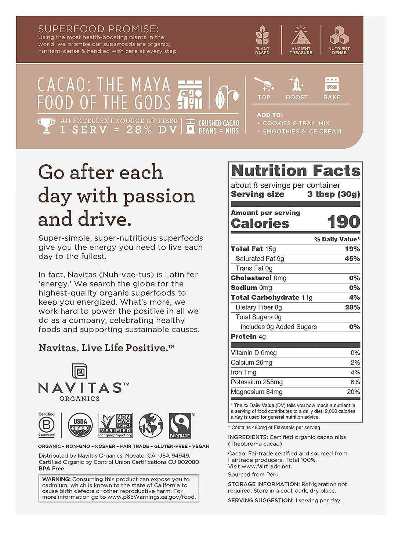 Trocitos de cacao Navitas Naturals Organic: Amazon.com ...