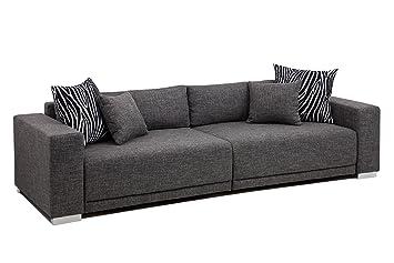 Big Sofa Federkern ~ B famous big sofa london xxl struktur grau cm amazon
