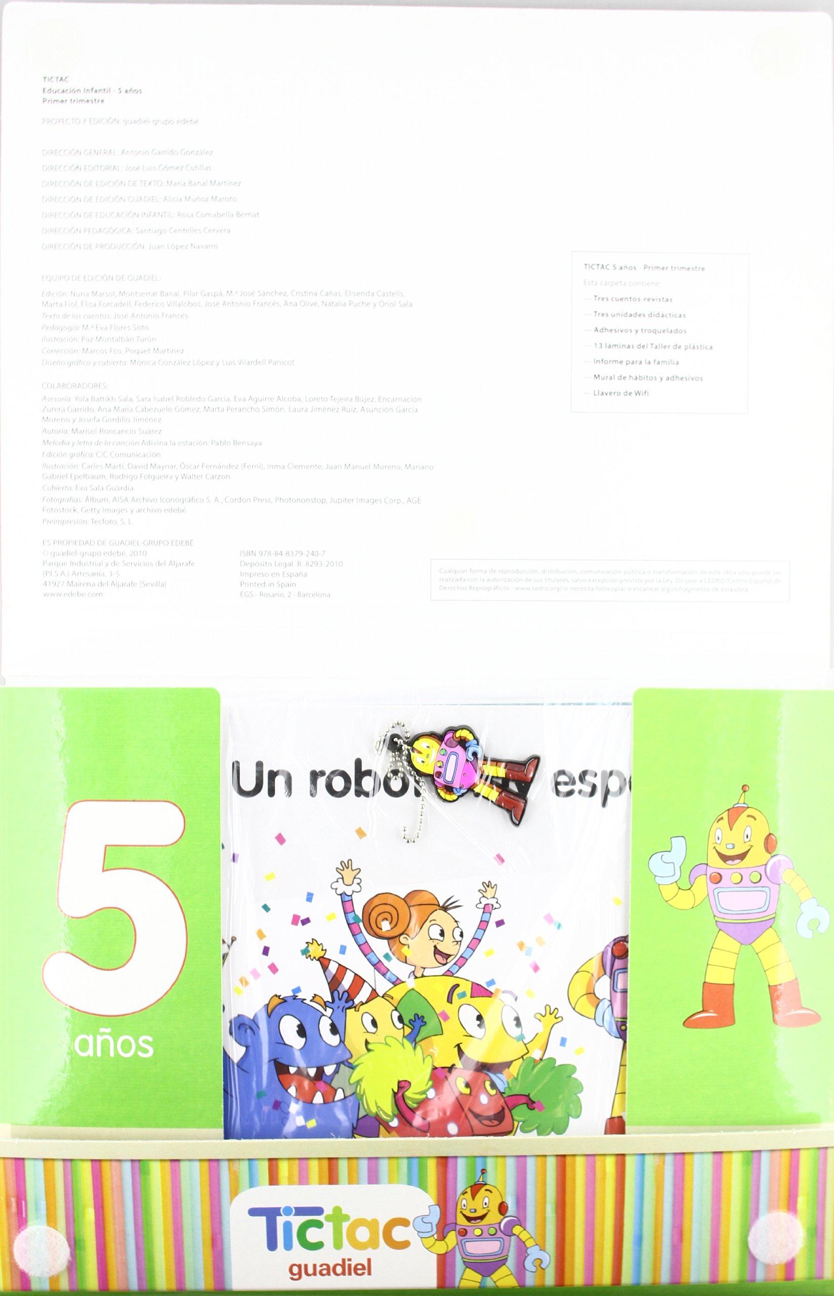 Tic Tac 5 Años Primer Trimestre - 9788483792407: Amazon.es: Obra Colectiva Edebé: Libros