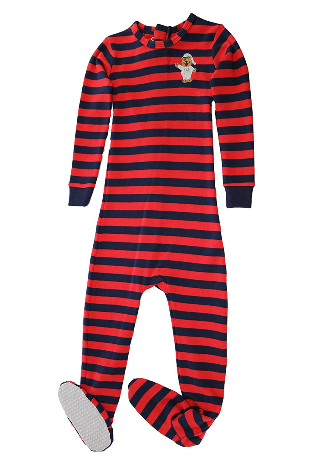 Little Keeper Sleeper Boys' 100% Cotton (Size 2T-5T) Long Sleeve Footed Zip Back Inescapable Pajamas LKS18-24FFB-$P