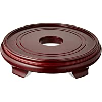 Oriental Furniture Rosewood Pedestal Stand - (Size 10 in. Base Diameter)