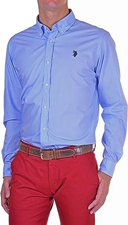 U.S. Polo Assn. - Camisa Hombre Slim Azul Cielo XL: Amazon.es: Ropa y accesorios