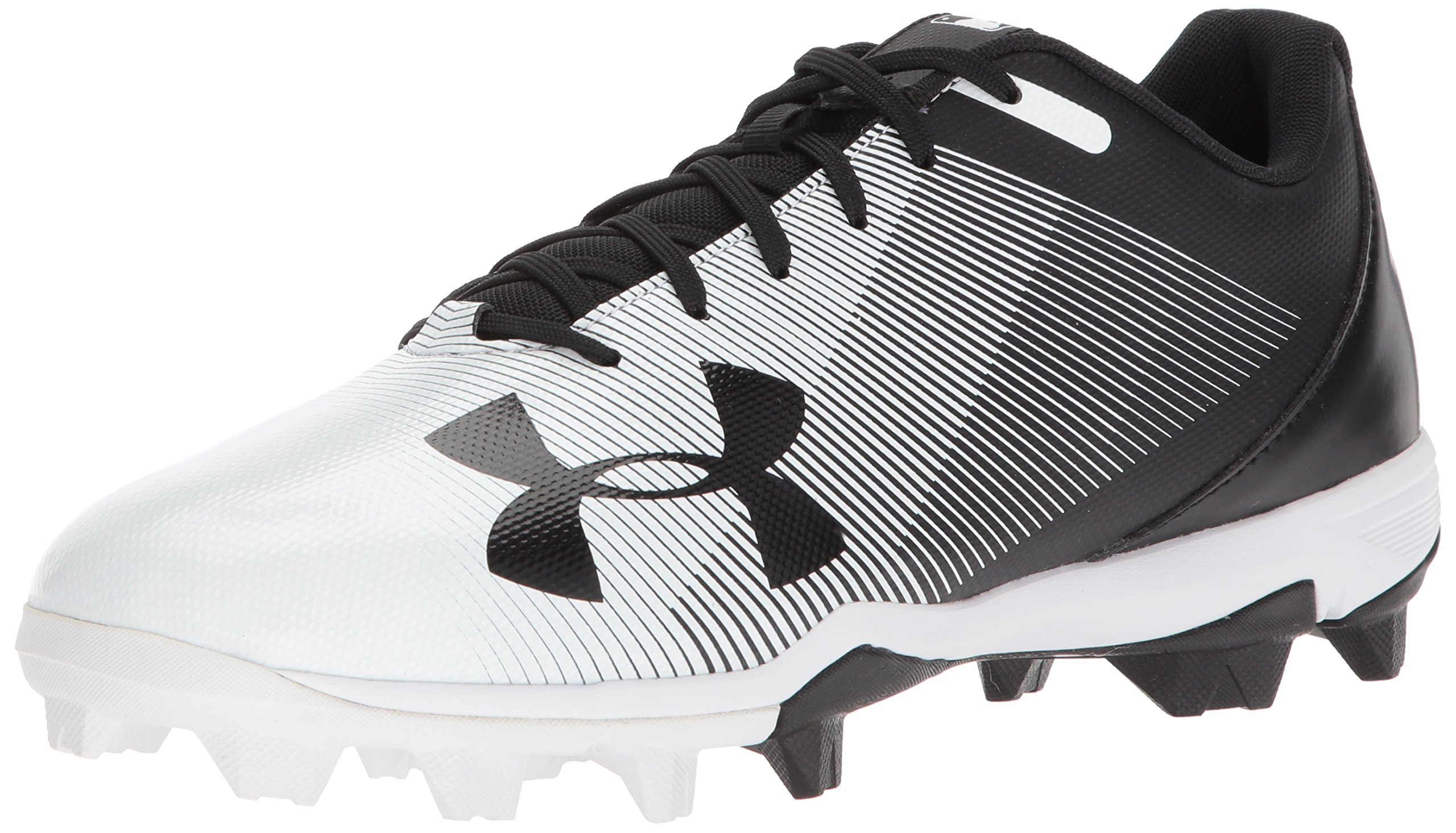 Under Armour Men's Leadoff Low RM Baseball Shoe, Black (011)/White, 10