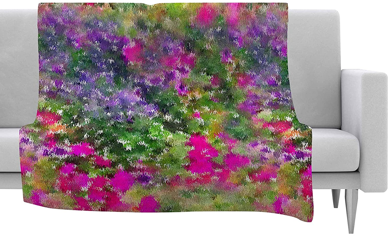 KESS InHouse Carolyn Greifeld Cascade Reflections Multicolor Abstract Fleece Baby Blanket 40 x 30