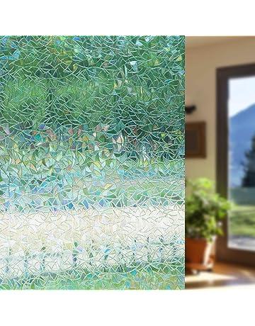DekorFix Window Film Static Window Cling Decorative Window Decor Vinyl Window Privacy Film Window Cling for