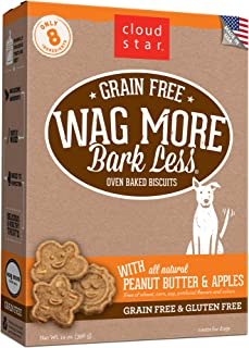 product image for Cloud Star Wag More Bark Less Oven Baked Biscuits, Grain Free Crunchy Dog Treats, Made in the USA