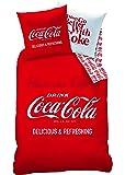 Cti 039857 Coca-Cola Enjoy Housse de Couette 140 x 200 cm + Taie d'Oreiller 63 x 63 cm