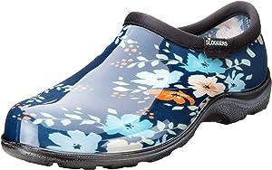 Sloggers 5120FFNBL06 Waterproof Comfort Shoe, 6, Blue Floral Fun Print