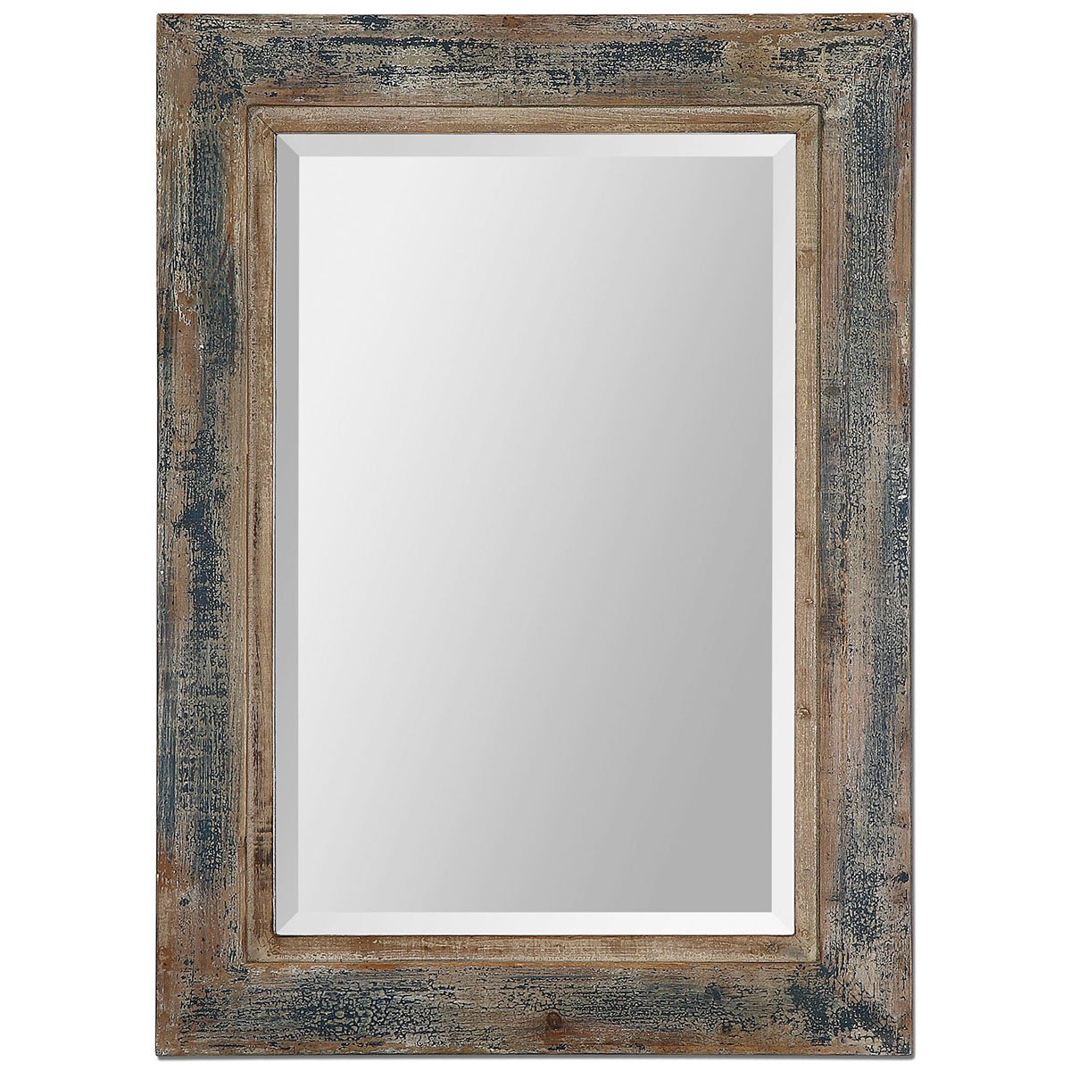 Amazon.com: Uttermost 13829 Bozeman Distressed Mirror, Blue: Home ...