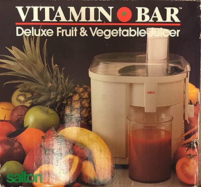 Salton Vitamin Bar: Deluxe Fruit & Vegetable Juicer