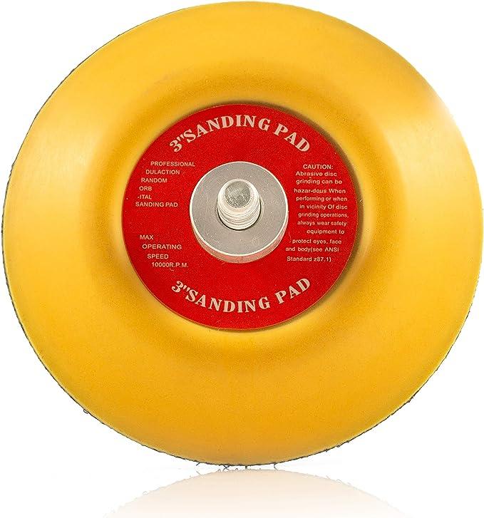"""3/"""" Sander Backing Pad Hook Loop Polisher Sanding Disc Choose Mandrel Size 1/"""""""