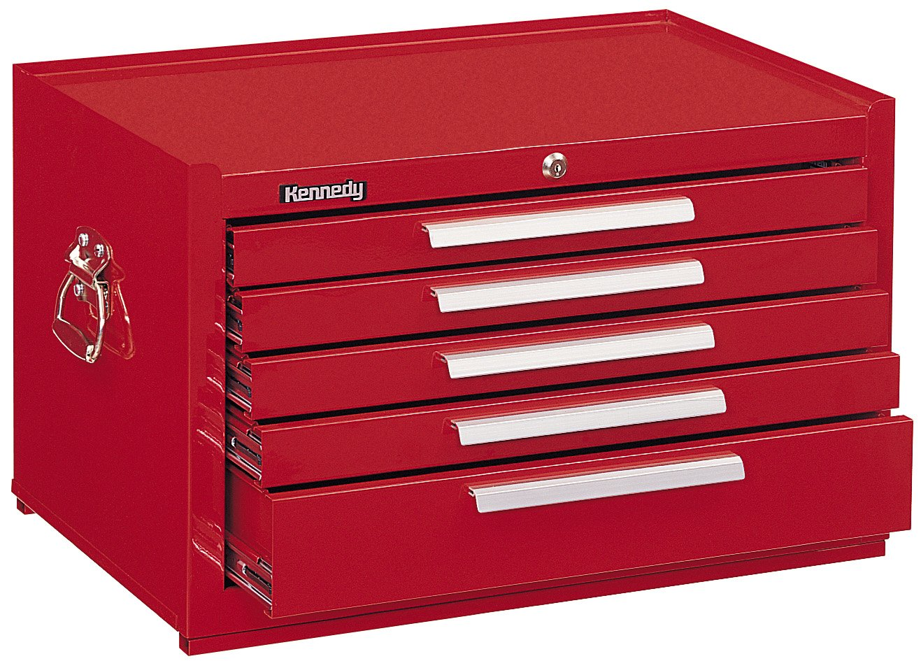 Kennedy Manufacturing 285R 5-Drawer Mechanic's Chest with Friction Slides, 27'', Red