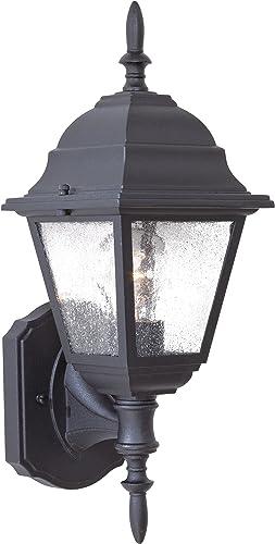 Minka Lavery Outdoor Wall Light 9060-66 Bay Hill Exterior Wall Lantern, 75 Watts, Black
