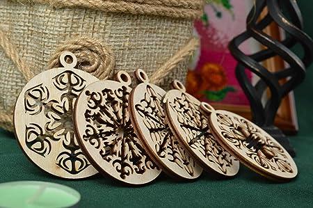 Amazon De Handmade Holz Rohlinge Set Weihnachtskugeln Aus Holz