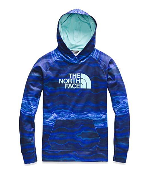 7b84b44076a51 The North Face Women's Fave Half Dome Pullover 2.0, Aztec Blue Ct Geode  Print/