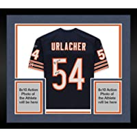 "$799 » Framed Brian Urlacher Chicago Bears Autographed Navy Reebok Authentic Jersey with""HOF 18"" Inscription - Autographed NFL…"