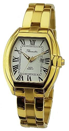898ccd1c6a36 Reloj Thermidor Caballero Acero Inoxidable Chapado en Oro. Cierre Oculto.   Amazon.es  Relojes