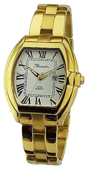 Reloj Thermidor Caballero Acero Inoxidable Chapado en Oro. Cierre Oculto.: Amazon.es: Relojes