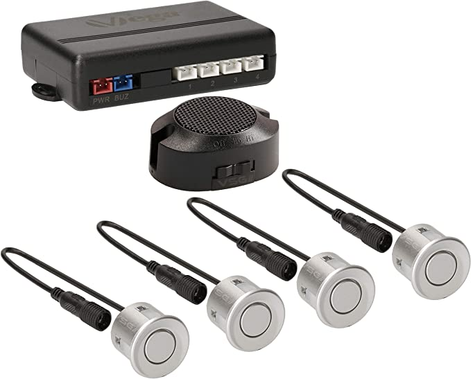 Vsg Einparkhilfe Mit Einem Akustischen Signalgeber Und Inklusive 4 Sensoren In Silber Für Hinten Auto
