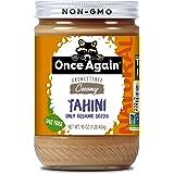 Once Again Natural Sesame Tahini - Salt Free, Unsweetened - 16 oz Jar, Packaging May Vary