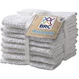 Multi Pack Washcloths -White 12x12 - 100% Pure Ringspun Cotton Terry - 8 Pack - Looks Great - Easy Care Machine Wash