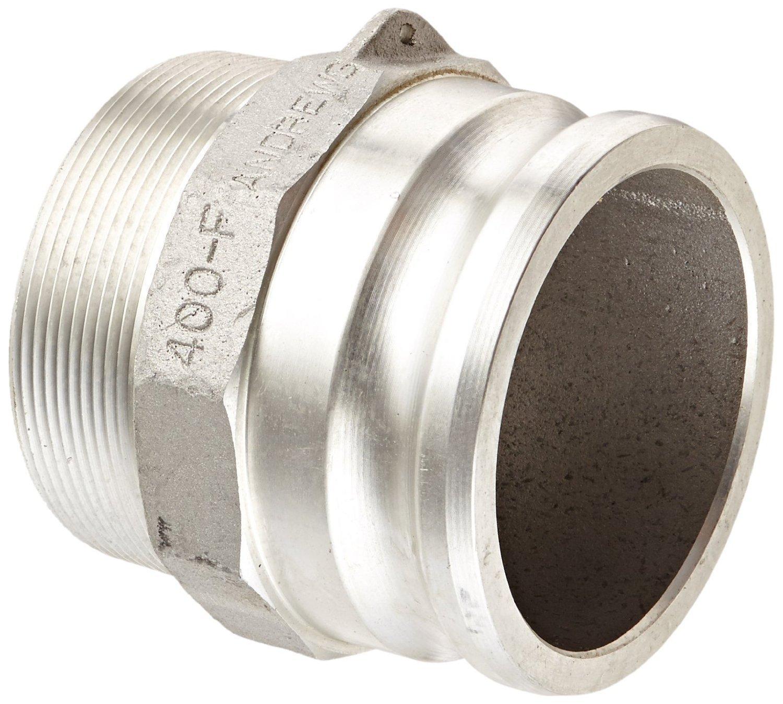 Dixon 400-F-AL Aluminum 356T6 Boss-Lock Type F Cam and Groove Hose Fitting, 4'' Plug x 4'' NPT Male