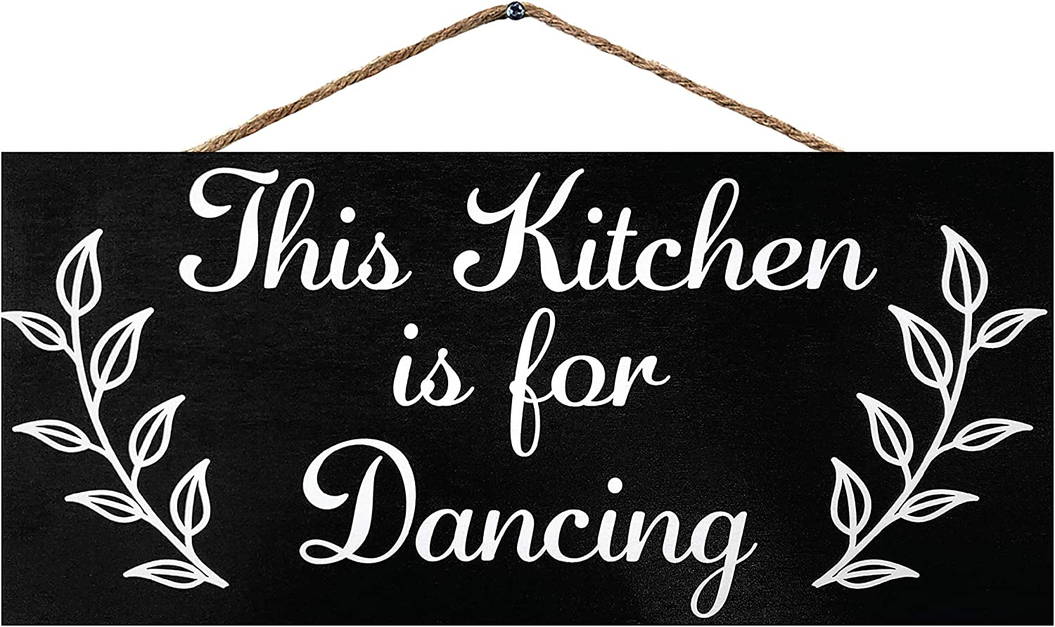 JennyGems This Kitchen is for Dancing | Funny Kitchen Signs | Farmhouse Kitchen Decor | Genuine Wood Sign | Made in USA