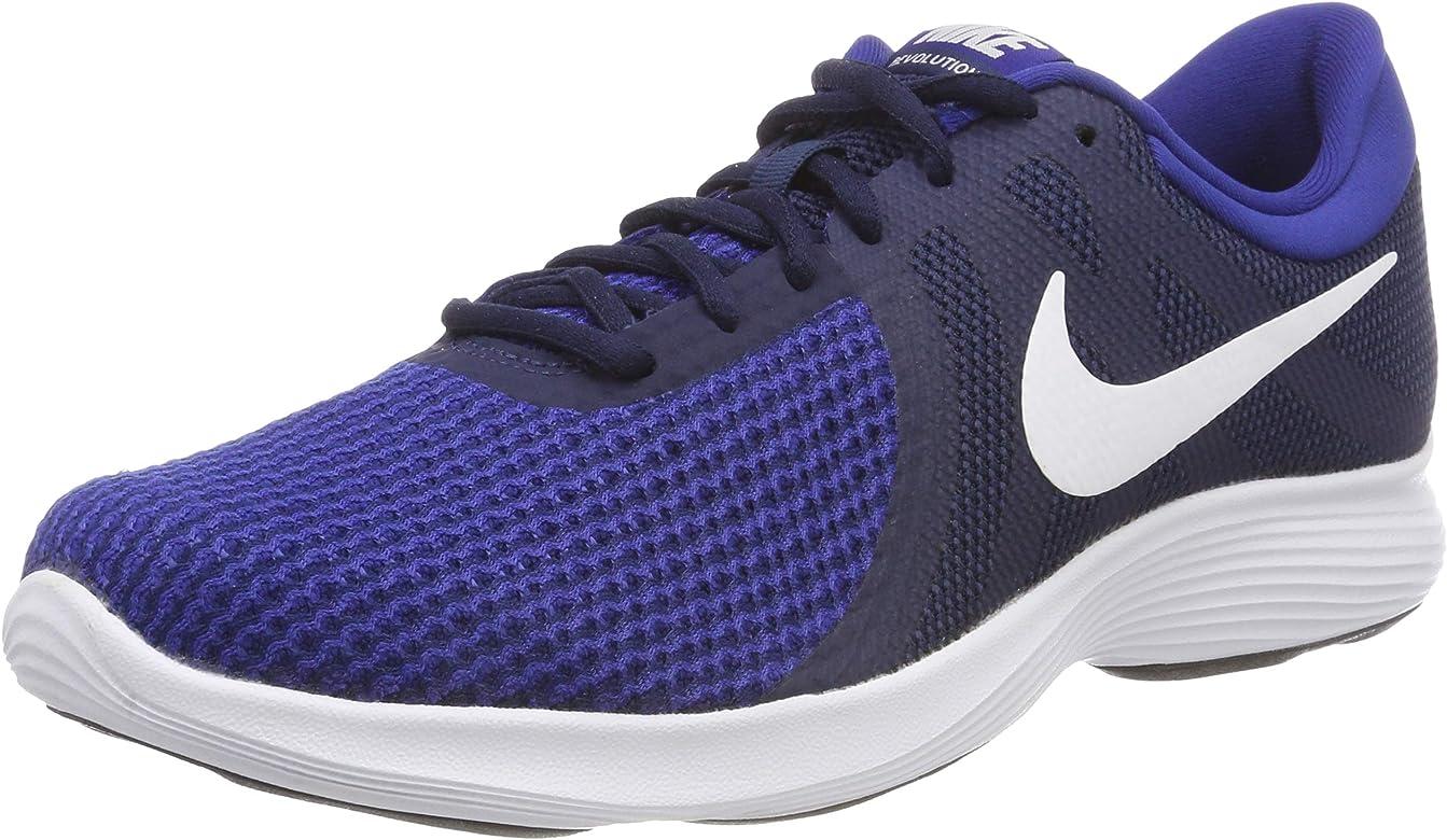 Nike Revolution 4, Zapatillas de Running para Hombre, Midnight Navy/White-Deep Royal Blue-Black, 40 EU: Amazon.es: Zapatos y complementos