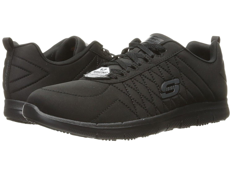 (スケッチャーズ) SKECHERS レディースワークシューズナースシューズ靴 Ghenter [並行輸入品] B07FS856PC 5 (22cm) B Medium|Black Jersey Black Jersey 5 (22cm) B Medium