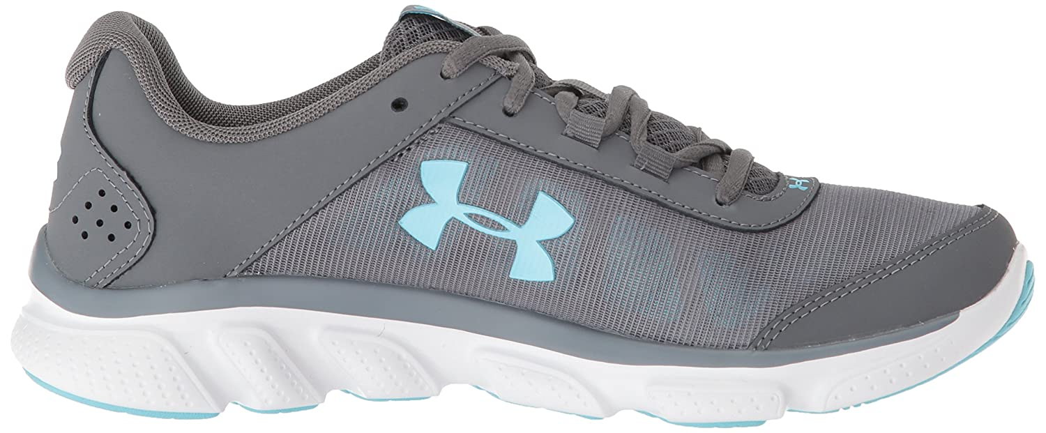 Under Armour Women's Micro G Assert 7 Sneaker, Black/White/White B071L7PYC7 5.5 M US|Gray