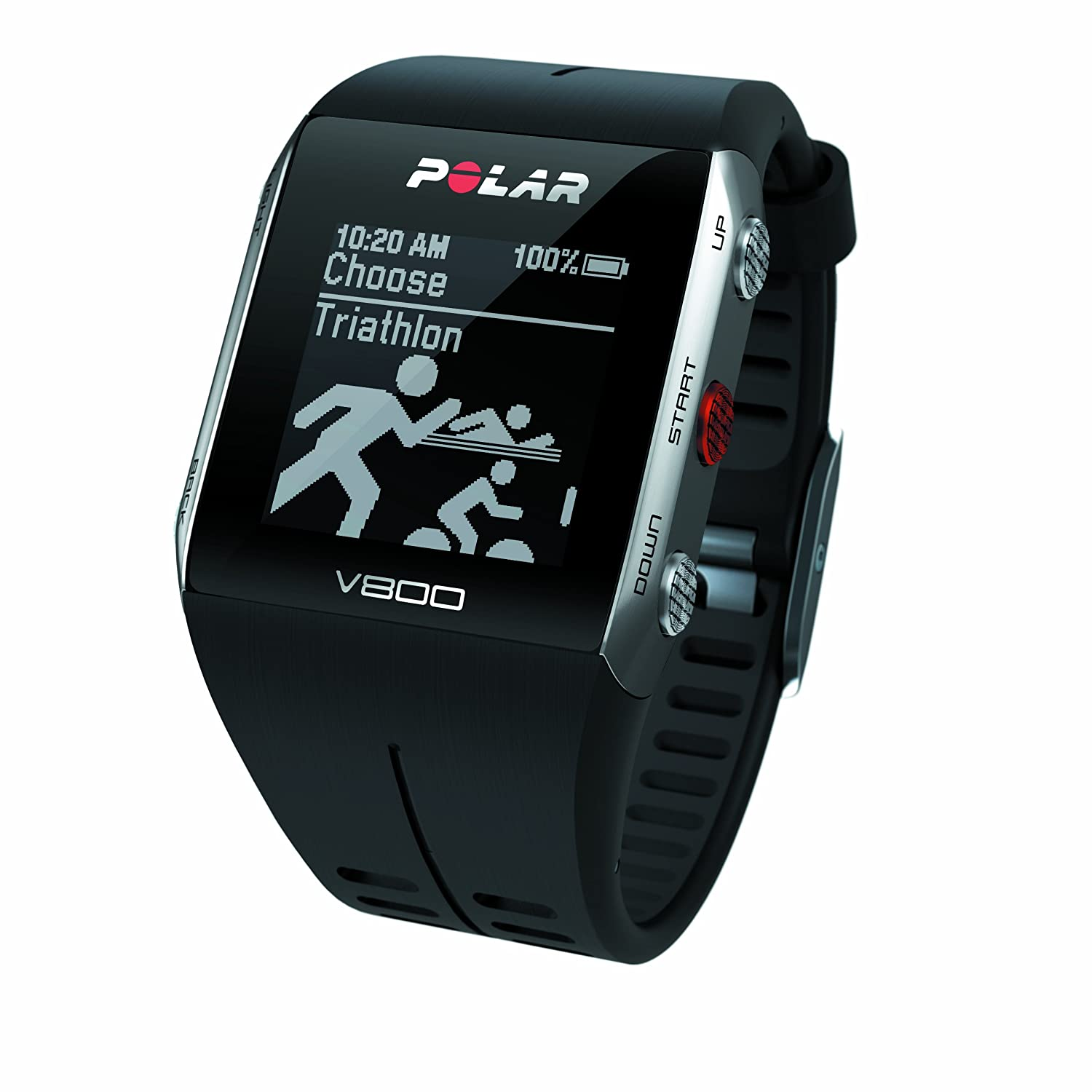 Amazon.com : Polar V800 Multisport Integrated Fitness Watch with Heart Rate Monitor & GPS - Black : Sports & Outdoors