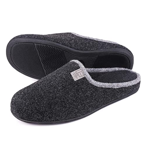 ac935f4942e12 LongBay Men's Memory Foam Slippers Closed Toe House Home Indoor Lightweight  Comfy Shoes