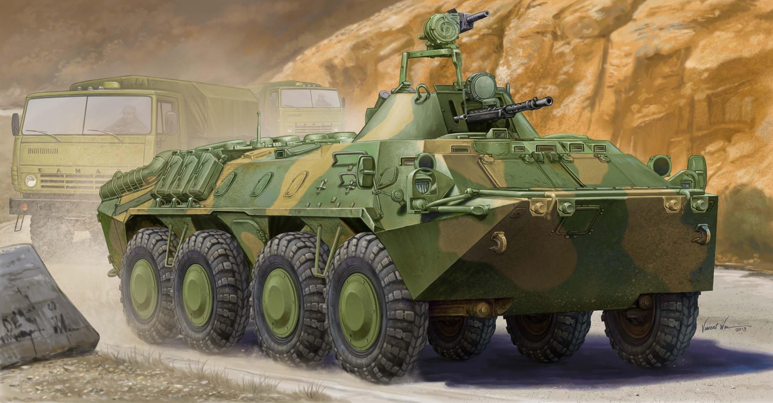 Trumpeter Russian BTR-70 APC in Afghanistan Model Kit (1:35 Scale)