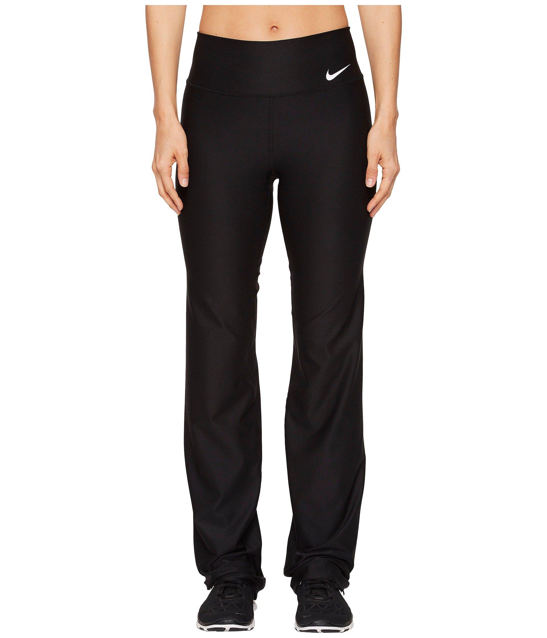 NIKE Women's Power Training Pants, Black/White, X-Small