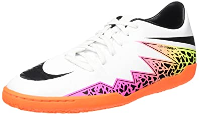 bd89d3e2bdb4 Nike Mens Hypervenom Phelon II IC White Black Total Orange Volt Indoor  Soccer