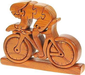 Compite con la Bici 3-D Rompecabezas de Madera: Diversión Rompecabezas: Hechos a Mano de Madera: Inicio de la Novedad de Madera Ciclistas y Amantes del Ciclismo!: Amazon.es: Juguetes y juegos