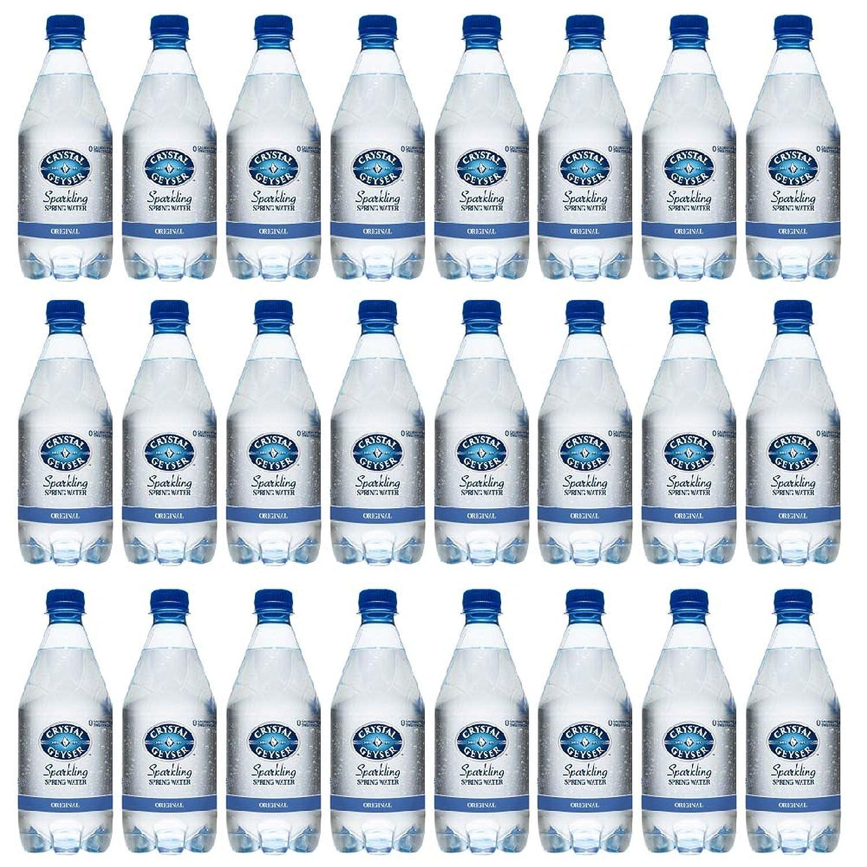 Crystal Geyser Unflavored Sparkling Spring Water PET Plastic Bottles, BPA Free, No Artificial Ingredients or Sweeteners, 18 Fl Oz, 24 Pack