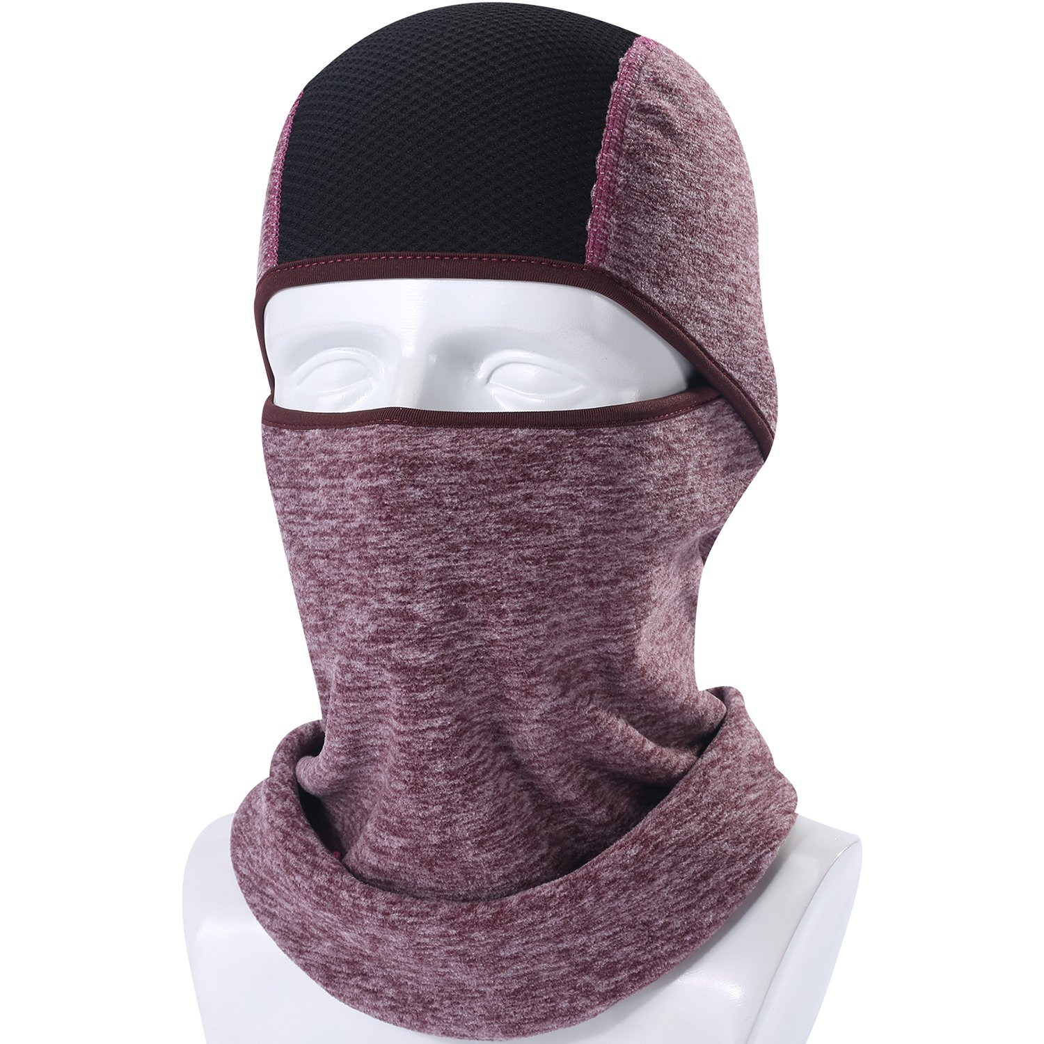AXBXCX Balaclava Fleece Hood - Windproof Ski Mask - Cold Weather Face Motorcycle Mask Neck Warmer Cycling Skull Cap Thermal Scarf Winter for Running Snowboarding Fishing Brown