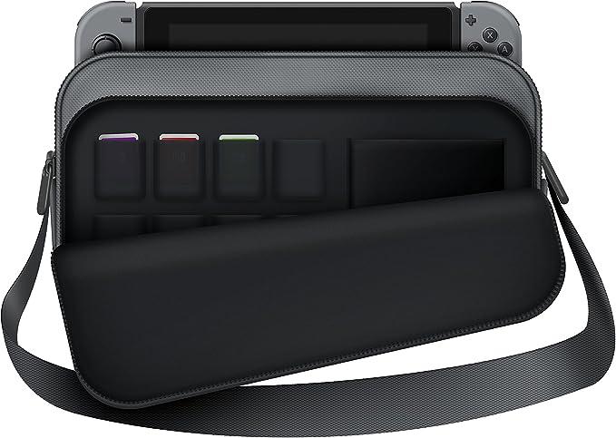 Estuche de transporte para Nintendo Switch - Estuche para maletín con soporte para consolas y accesorios (Nintendo Switch) - GRIS: Amazon.es: Videojuegos