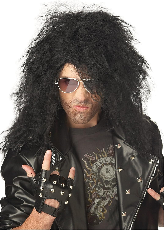 California Costumes Black Heavy Metal Wig