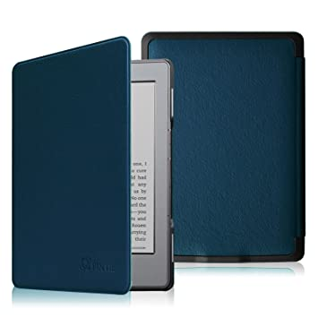 Fintie Funda para Kindle 5 / Kindle 4 - La Más Delgada y Ligera Carcasa de Cuero Sintético con Cierre Magnético, Azul Oscuro