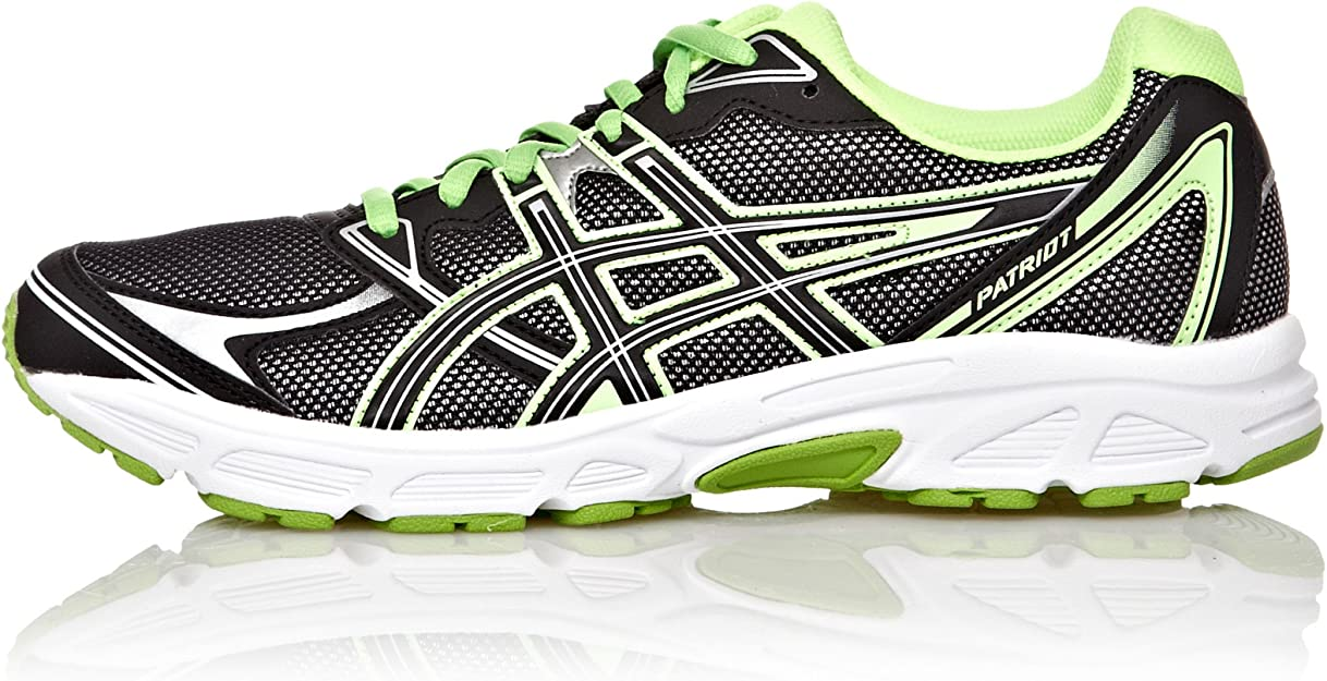 Asics Zapatillas Running Patri 6 Negro/Verde 39: Amazon.es ...